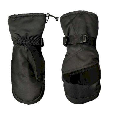 unisex palčiakové rukavice lyžiarské zateplené blackblack