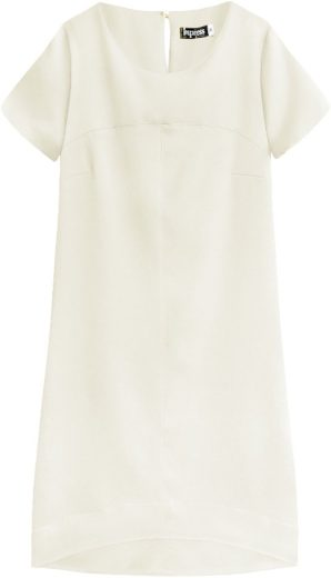Béžové dámské trapézové šaty (446ART)