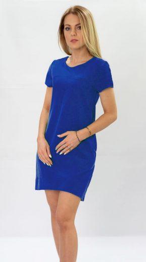 Trapézové šaty v chrpové barvě (435ART)