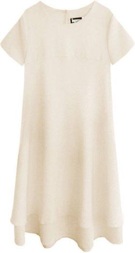 Béžové trapézové šaty (436ART)