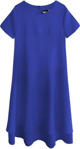 Trapézové šaty v chrpové barvě (436ART)