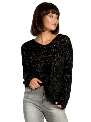 BK004 Lehký svetr s výstřihem do V
