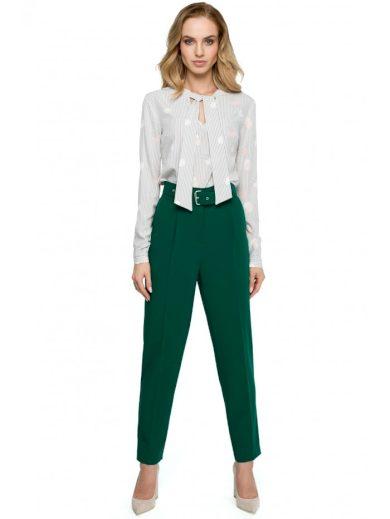 S124 Opaskové kalhoty s vysokým pasem