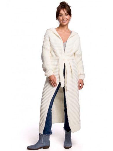 BK054 Dlouhý svetr s kapucí