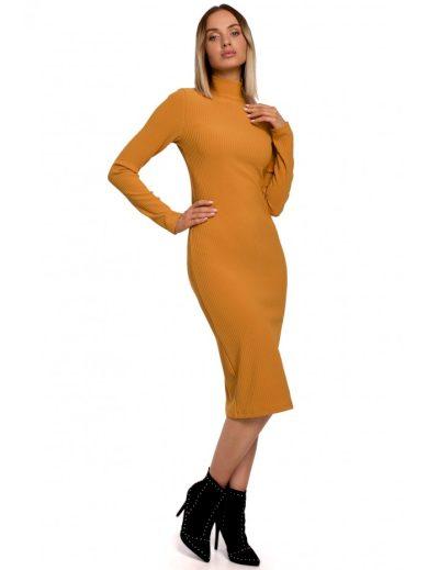 Pletené šaty rolák M542