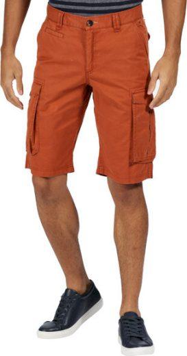 Pánské kraťasy Regatta RMJ221 Shorebay Short oranžové