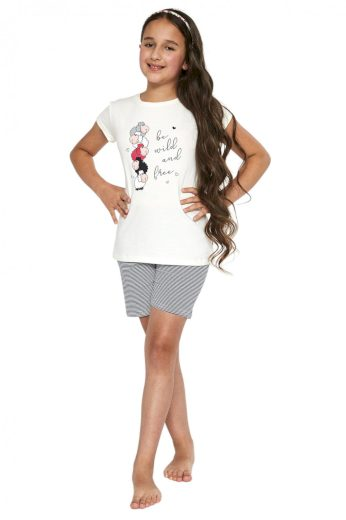 Dívčí pyžamo 788/83 cream - CORNETTE