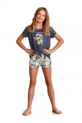 Dívčí pyžamo 2384 dark blue - TARO