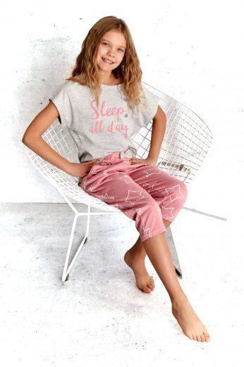 Dívčí pyžamo 2307 szara - TARO