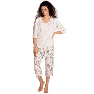 Dámské pyžamo Lama L-1395 PY-02 3/4 2XL-4XL