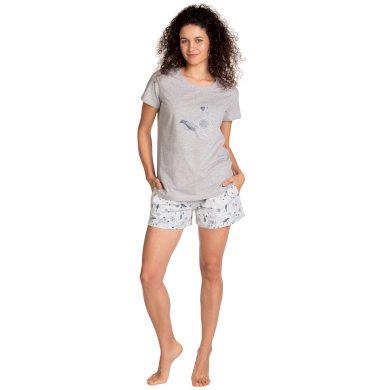 Dámské pyžamo Lama L-1399 PY kr/r S-2XL