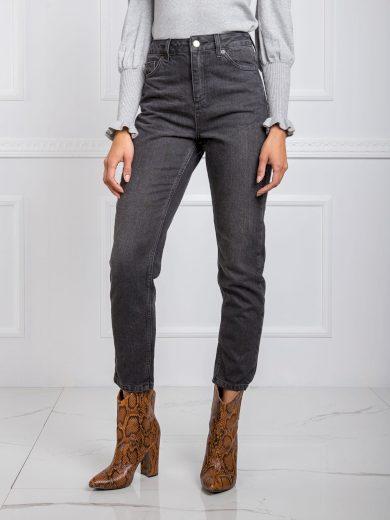 RUE PARIS Tmavě šedé dámské džíny