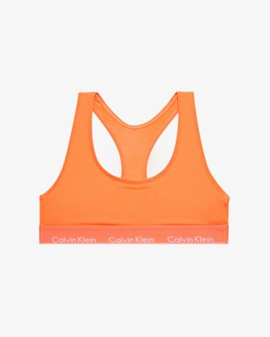 Sportovní podprsenka QF1659E-6TQ oranžová - Calvin Klein