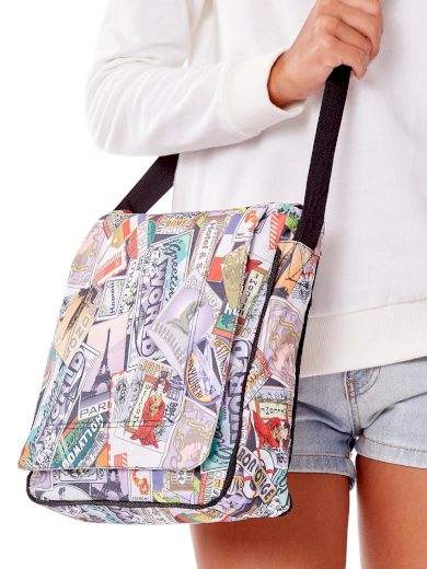 Dámská kabelka přes rameno s barevným potiskem 1029 - FPrice
