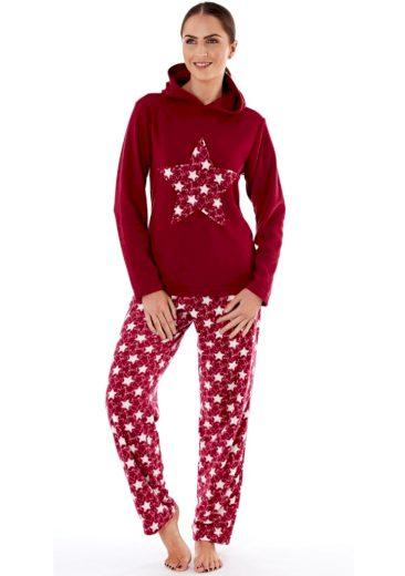 Dámské pyžamo Fordville LN000660 XXL/3XL Rubínová