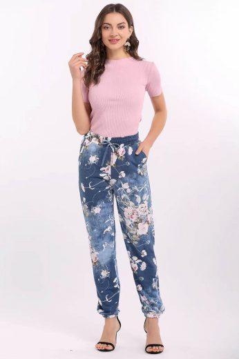 Dámské kalhoty Moon 203 Květy