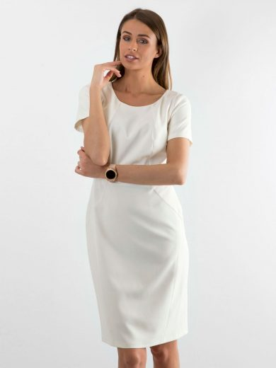 Elegantní ecru šaty
