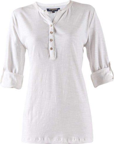 MARINE - dámské triko s 3/4 ruk. a knoflíčky - 2117