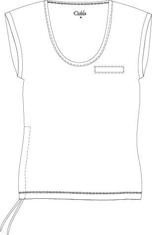 OXIDE-dámské triko aerobic OT - 2117