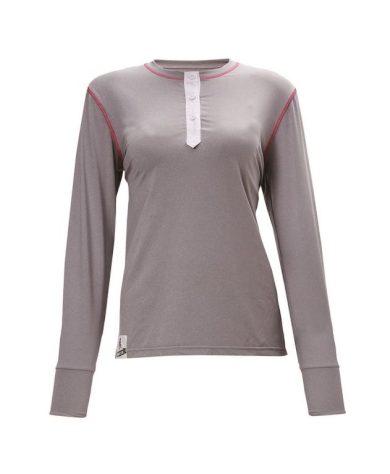 ANEBY - dámské freeski triko s dlouhým rukávem - šedé - 2117