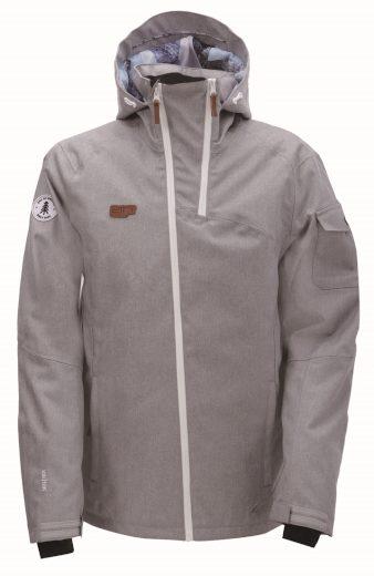 BRAAS - pánská lyž.lehká zateplená bunda (10000 mm) - šedá - 2117