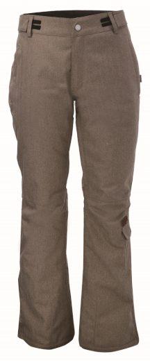BRAAS - pánské lyž.lehké zateplené kalhoty (10000 mm) - hnědé - 2117