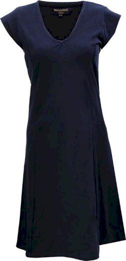 """MARINE -  dámské """"pique"""" šaty s výstřihem do """"V"""" - 2117"""
