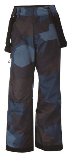 LAMMHULT - ECO dětské zateplené lyžařské kalhoty - modré - 2117