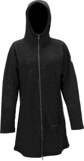 TN - dámský fleece kabát s kapucí - černý - 2117