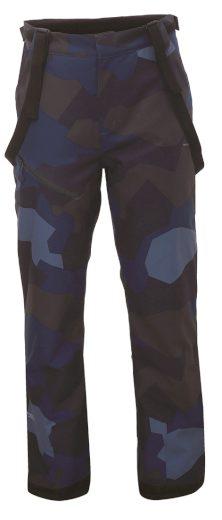 LINGBO - ECO pánské zateplené kalhoty s merinem - modrý - 2117