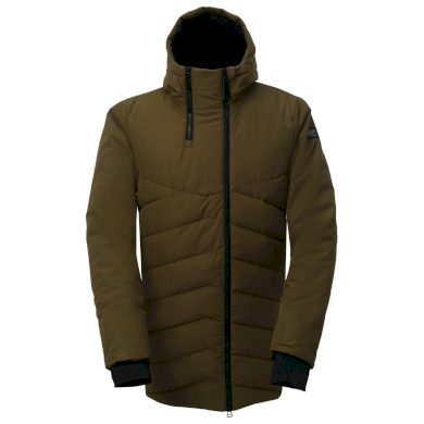 ELLANDA - pánský zateplený kabát - army - 2117