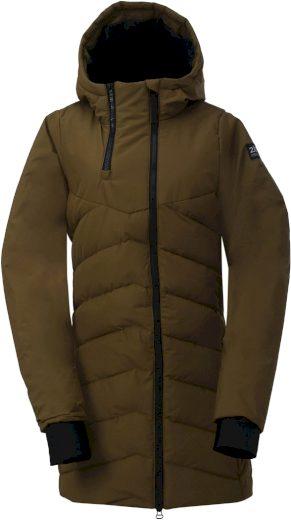 ELLANDA - dámský zateplený kabát - army - 2117