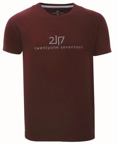 TUN - pánské funkční triko s kr.rukávem - Wine - 2117