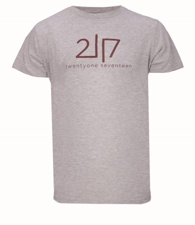 VIDA - pánské  bavlněné triko s kr. rukávem - šedé - 2117
