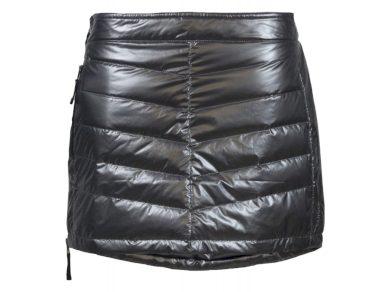 SKHOOP - dámská prošívaná sukně Down Mini - metallic grey, vel. L - 2117