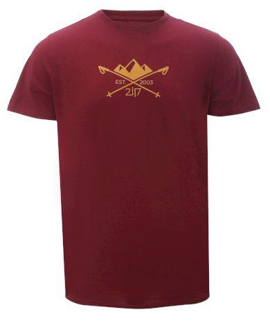 APELVIKEN - pánské  triko s krátkým rukávem - Wine - 2117