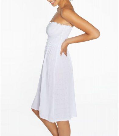 Viskózové šaty 85814 bílá - Ysabel Mora