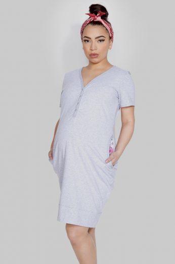 Těhotenská a kojící noční košile MAMA DRESS