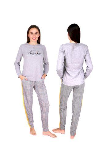 Dámské pyžamo FA6859PB šedá - Noidinotte