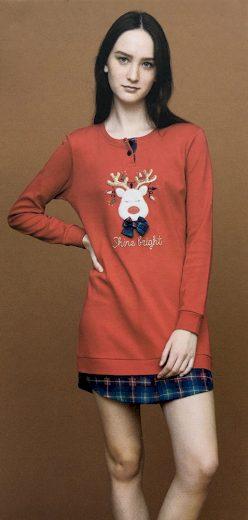 Dámská noční košile LA2010PB červená - Noidinotte