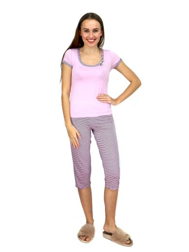 Dámské pyžamo 910-KK růžovočerná- CoCoon Secret