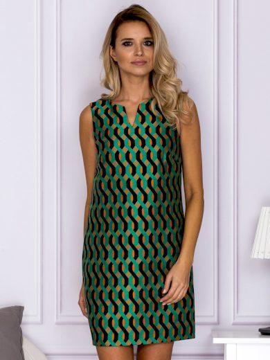 Dámské šaty s geometrickými vzory SK-122 - FPrice