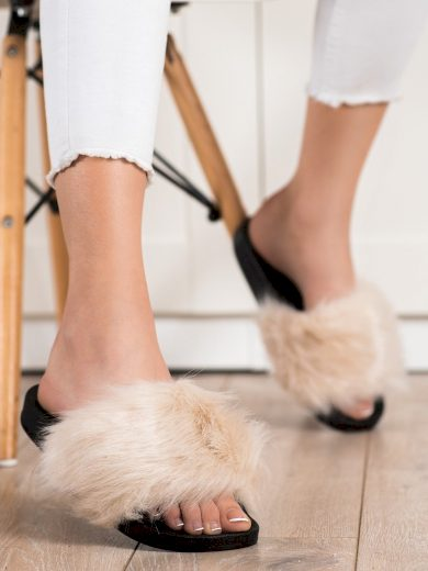 Pohodlné  nazouváky hnědé dámské bez podpatku