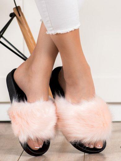 Krásné dámské  nazouváky růžové bez podpatku