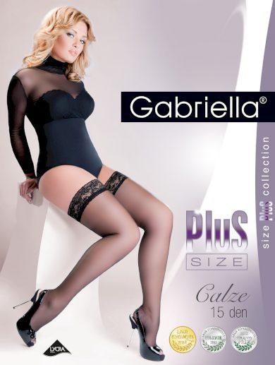 Samodržící punčochy Gabriella Plus Size 164 7-8 15 den