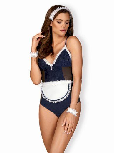 Pikantní kostým Maid teddy blue - Obsessive