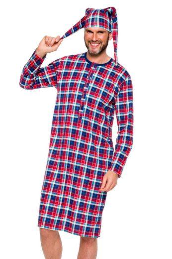 Pánská noční košile Filip barevné káro