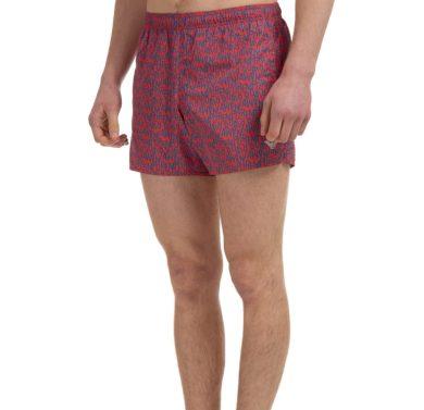 Pánské plavecké boxerky 211746 1P434 14862 červené s potiskem - Emporio Armani