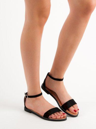 Originální  sandály černé dámské bez podpatku
