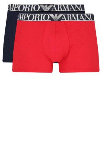 Boxerky 2pack 111912 1P720 34374 tmavě modrá/červená - Emporio Armani